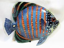"Tropical Reef Blue Butterfly Fish Sea Life Wall Art decor 8""(TF8-24)"