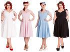 Hell Bunny Eveline Rockabilly Pinup Swing Reteo Vintage Tea Dress XL-4XL Plus Si