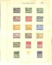 [OP3402] British Colonies lot of stamps/covers on 12 pages