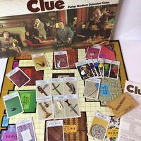 Vintage Parker Brothers1972 CLUE Detective Board Game Complete