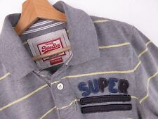 AL1597 SUPERDRY POLO SHIRT TOP VINTAGE STRIPS ORIGINAL PREMIUM size M