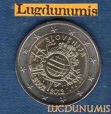 2 Euro Commémo - Slovénie 2012 10 Ans de l'Euro
