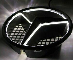 Mercedes Benz LED Light Gloss Black Grille Star Emblem Badge W204 W245 2006-13