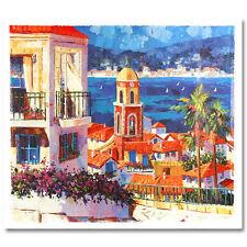 BARBARA McCANN St. Tropez Canvas LE #184/250 looks like an ORIGINAL Painting COA