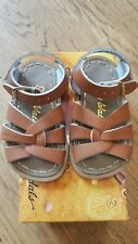 New Sun-San Salt Water Sandals,original style tan leather sandals, toddler 9,NIB