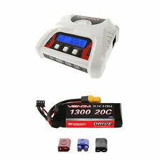 Venom 20C 3S 1300mAh 11.1V LiPo Battery and 2-4 Cell Balance Charger Combo