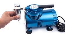 ÖLFREIER Membran MINI Airbrush Kompressor AS-06-1 PRO 2,8 bar - Manometer usw.