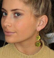 "Kate Spade ""Gumdrop Gem"" emerald GREEN gold Crystal Earrings & peridot drop lot"