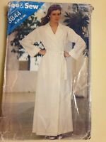 See & Sew Butterick Bath Robe and Belt no 3844 sz A (P-S-M)