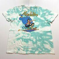 Disney Aladdin T-Shirt Size L Tie Dye Mens Retro Cartoon Movie Promo Pixar