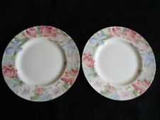 "ROYAL ALBERT CHINA 'FONTEYN' PAIR of 8"" SALAD PLATES EXCELLENT CLEAN CONDITION"