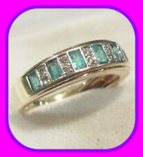 Natural Emerald Band Fine Rings