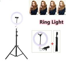 """10""""LED Ring Light with Stand 5600K Dimmable LED Lighting Kit Makeup Youtube Live"""