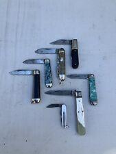 Bulk Lot 7 Vintage Knives; Pocket Knives; Blades; England; Richlands