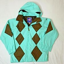Burton Youth Snow Jacket Snowboard Size XL Mint Green and Brown Argyle Pattern