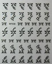 Accessoire ongles : nail art - Stickers autocollants, motifs libellules noires