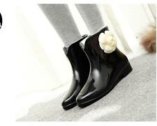 Fashion  Womens Rain Boots Ankle Boots PVC Ladies Summer Winter Boots