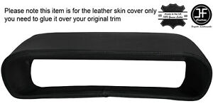 BLACK STITCH BINNACLE HOOD CLUSTER LEATHER COVER FITS DELOREAN DMC-12 1981-1983