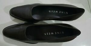 NINE WEST Classic Shoes, 7, Brown Leather, High Heels 8cm, New Never Worn $59.00