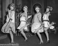 Vintage Ladies Dancing Charleston Photo 1920s Flappers Jazz Prohibition era
