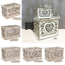 DIY Wedding Card Box with Lock Wooden Gift Card Holder Party Envelope Hold up