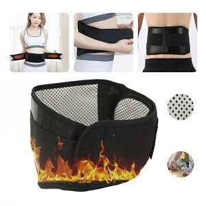 LOWER LUMBAR BRACE Belt Strap Magnets Self Heating Magnetic Back Pain Support