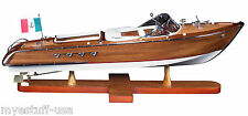 Riva Aquarama Speed Boat 26 inch Wood Model Boat by Authentic Models AS182
