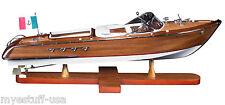 Authentic Models AS182 Riva Aquarama Speed Boat 26 inch Wood Model Boat