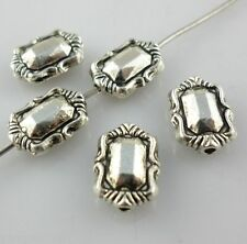 32pcs Tibetan silver Flat Rectangle Loose Spacer Beads 4*8*11mm