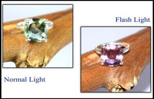 Russian Color Changing Alexandrite Cushion 18.95 Ct Men's Ring-Latest Collection