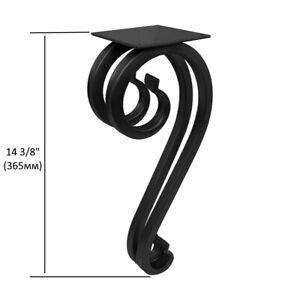 Coffee Table Curved Leg Metal Steel Black End Tables Powder Coating