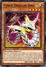 3x Cyber Dragon Drei - LED3-EN020 - Common - 1st Edition LED3 - Legendary Duelis