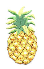 """Pineapple - Fruit - Tropical - Embroidered Iron On Applique Patch - 3""""H"""