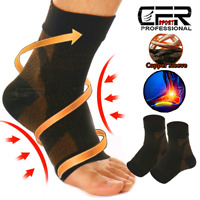 Copper Compression Socks Plantar Fasciitis Arch Ankle Foot Pain Sleeve  Support