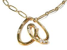 Bijou alliage doré superbe collier créateur coeur Morellato necklace