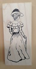 Wood Mounted Rubber Stamps, Vintage Stamps, Victorian Woman, Mounted Stamps