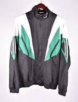 Adidas Vintage Rétro Noir Hommes Pull Taille UK-42/44
