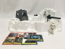 Vtg 1980 Star Wars Playset Hoth Imperial Attack Base Near Complete Snow Trooper
