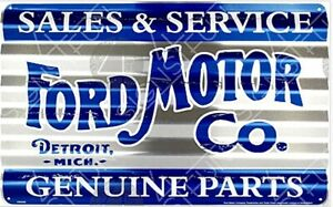 Ford Motor Co. Sales & Service Corrugated Metal Sign 455mm x 295mm (sf)