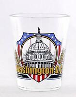 WASHINGTON DC 3 VIEW SHOT GLASS SHOTGLASS