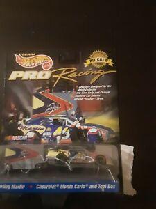 Vintage Hot Wheels NASCAR Pro Racing Pit Crew Series Sterling Marlin Chevrolet