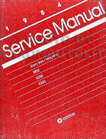 1984 Dodge Ram Van and Wagon Shop Manual B150 B250 B350 Original Repair Service