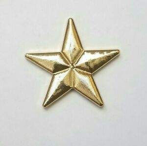 JHB Vtg Super Star Shaped Gold Tone Plastic Button 30mm Celestial Sewing Crafts