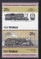 TUVALU NUI LOCO 100 B & A CLASS 12 LOCOMOTIVE UNITED STATES STAMPS MNH