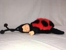 "Anne Geddes Sleeping Plush Baby Ladybug  9"" 1997 Red and Black"