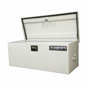"Lund 88048 Light Duty Large 48"" Job Site Storage Box - White Steel NEW"