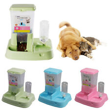 UK Large Automatic Pet Food Drink Dispenser Dog Cat Feeder Water Bowl Dish