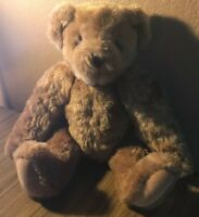 """Authentic Vermont Teddy Bear No. 1 Brown Plush 16"""" Fully Jointed"""