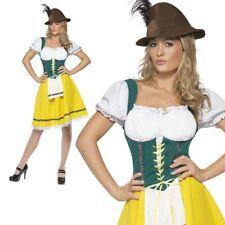 Womens Bavarian German Oktoberfest Girl Ladies Adult Beer Fancy Dress Outfit