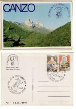 141285 CANZO CARTOLINA NUMERATA CAMPIONATO D' EUROPA CANI RAZZE UTILITA' 1984
